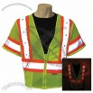 Class 3 Reflective Safety Shirt  with LED lights