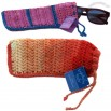 Crocheted Cozy Glasses Pouch with String