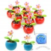 Cute Toy Flip Flap Solar Powered Flower Gift with Flowerpot