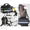 Cycling Bike Bicycle Rear Seat Pannier Frame Pack Bag + Rain Cover