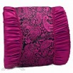 Decent Car Waist Cushion Low Back Cushion Pillow With Embroidery Pattern Purple
