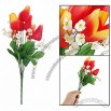Decorative Artificial Orange Red Tulip Flower Bouquet
