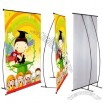 Double Pole L Banner Stands