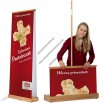 Easy RollBamboo Double Roll Up Banner Stand