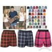 Elastic Flannel Custom Boxer Shorts