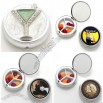 Fashion Metal Pill Box with 3 Compartment