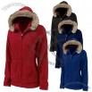 Faux Fur Trimmed Fleece Hoodie - Women's