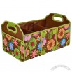 Foldable Collapsible Trunk Organizer - Floral
