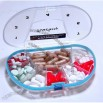 Gasketed Vitacarry 8 Compartment Pill Box Holds up to 150 Pills Waterproof - Clear