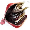 Genuine Leather Multi-pocket Fan Credit Card Holder Palm Wallet