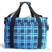 Insulated Blue Cooler Bag with Adjustable Strip and Handle on Top