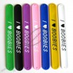 LOVE BOOBIES Silicone Slap Bracelets Wristbands Rubber Bangle