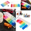 Mini Colorful 7 Days Pill Case Box Holder