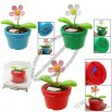 Mini Flip Flap Decor Solar Powered Flower Toy with Flower Pot