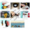 Multifunction car emergency safety hammer with cutter warning light mobile phone charger flashlight