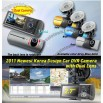 Newest Korea Design Car DVR Camera with Dual Lens