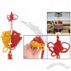 Red Tassels Design 2 Auspicious Fishes Pendant Chinese Knot Ornament