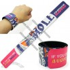 Silk-Screen Printed PVC Slap Bracelet