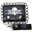 Skull Tattoo Tri-fold chain wallet 4.5