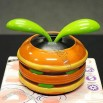 Solar Powered Hamburger FlowerPot Flip Flap Toy