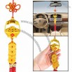 Tassels Decor Plastic Basket Coin Detail Car Hanging Ornament Chinese Knot