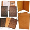 USA Embossed Leather Passport Cover w/ Card Slots