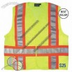 ANSI Class 2 DOT Mesh Safety Vest with Velcro Closure in Hi-Viz Lime