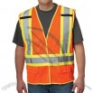ANSI Class 2 Mesh Safety Vest - Breakaway - Velcro Closure - Hi-Viz Orange- Contrast Trim