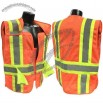 Class 2 Breakaway Expandable Two Tone Vest - Orange Mesh