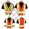 Class 2 safety vest Contrasting with side adjustment