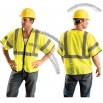 Class 3 Value Mesh Vest with Zipper- Yellow