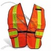High Visibility Reflective Safety Vest with Zipper