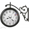 Iron Double Sided Wall Clock