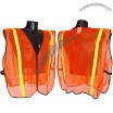 Non ANSI Vest-1 in Stripes- Safety Orange - XXL