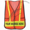 Reflective Safety Vest - Custom Worded