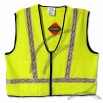 Safety High Visibility Lime Vest: White Stripe