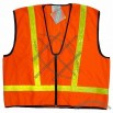 Safety Orange Vest with Lime Stripe