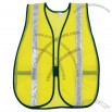 Safety Polyester Vest with White Vinyl Stripes