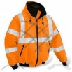 Waterproof Reflective Safety Winter Jacket with Padding and Polyester Fleece Lining