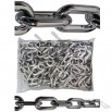 Chrome Plastic Chain - 6mm 1.5 Inch, 8 Foot Bag