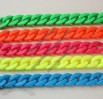 Neon Colorful Acrylic Curb Chain Link, Plastic Chain Link