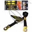 Black Polyester Ratchet Tie Down Strap with Snap Hook