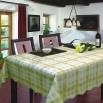 PVC Table Cloth with Nonwoven/Flannel Backing