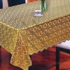 Table Linen with Lace Trims, Golden/Silver