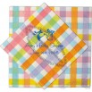 Color grid 3-Ply Luncheon Napkin With Pattern
