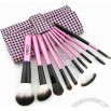 10PCS Daily Makeup Cosmetic Brush Set Kit with Leather Case