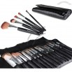 15pc Makeup Cosmetic Brush Set Kit w/ Faux Crocodile Case