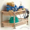 2-Tier Bathroom Organizer Rack Made of Plastic