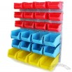 Wall Mounted Garage Organiser with 24 Bins
