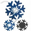 Plane Snowflake Fridge Magnet for Christmas Holiday